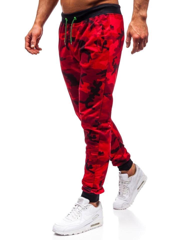 Pantaloni trening bărbați camuflaj-roșu Bolf MK19