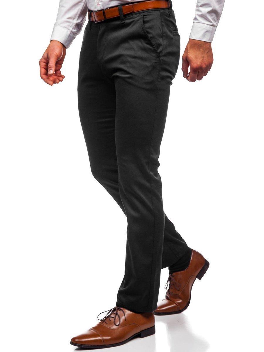 Pantaloni chinos negri bărbați Bolf KA1786P