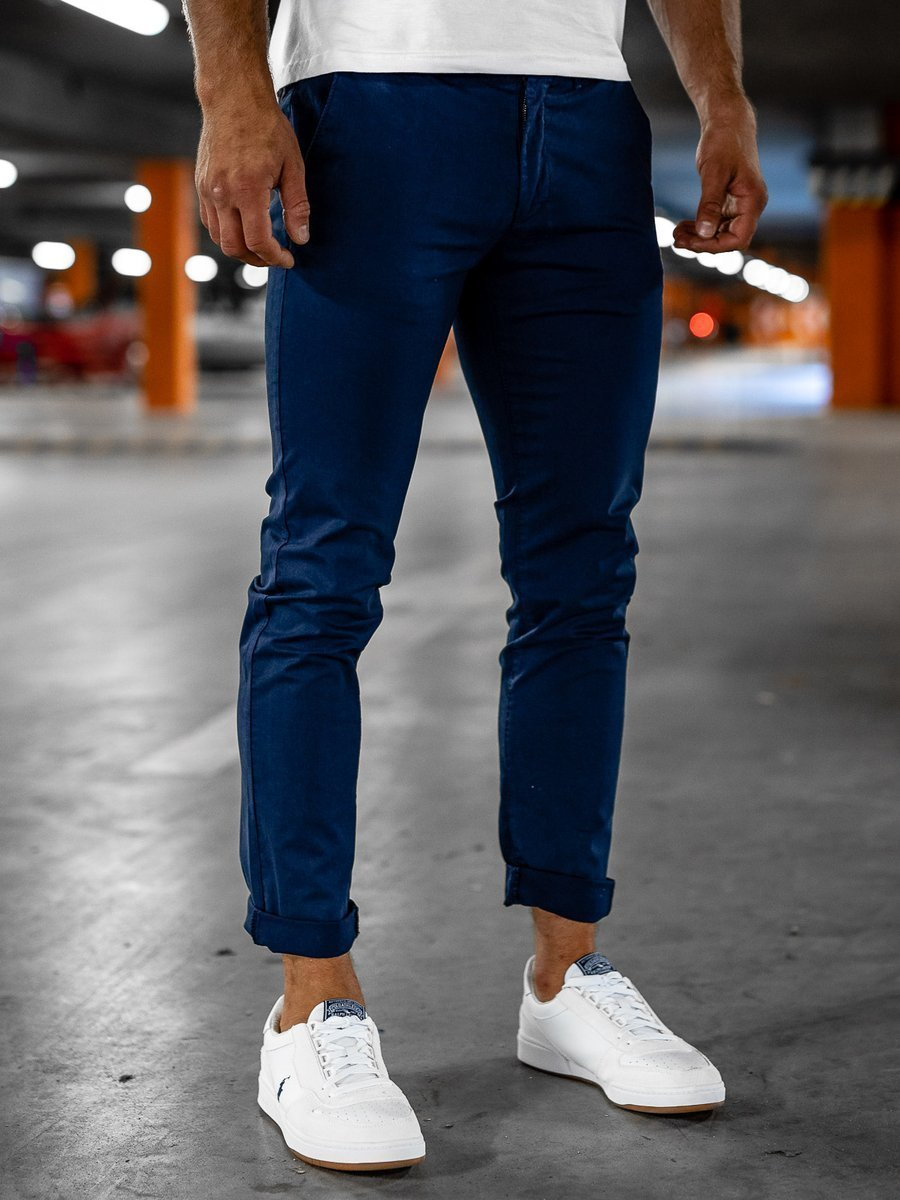 Pantaloni chinos bleumarin bărbati Bolf 1146 imagine