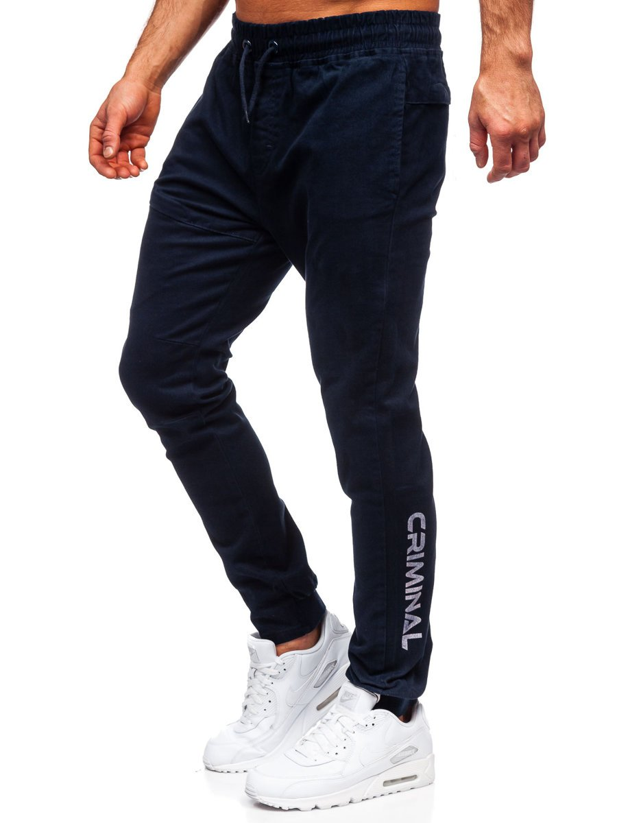 Pantaloni joggers bleumarin Bolf B11119 imagine