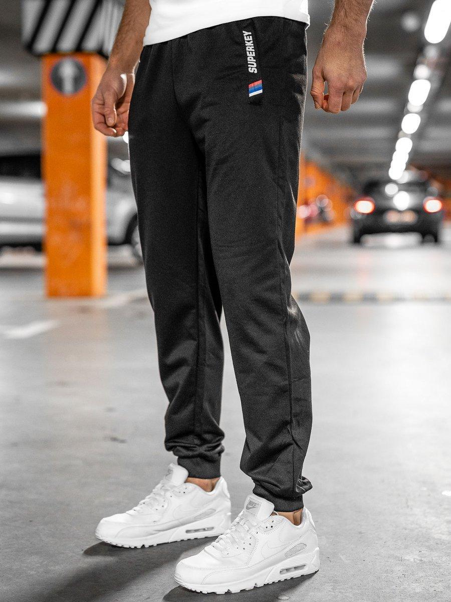 Pantaloni de trening negri Bolf JX1029 imagine