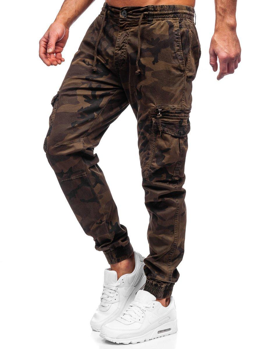 Pantaloni cargo maro Bolf CT6026S0 imagine
