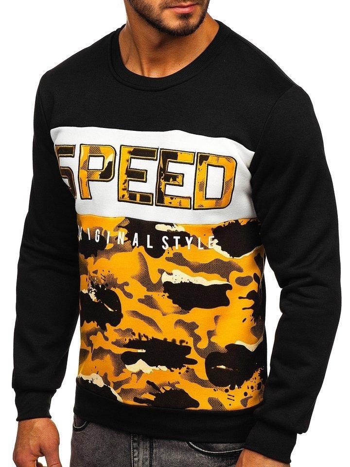 Bluza cu imprimeu bărbati galbena Bolf HY605