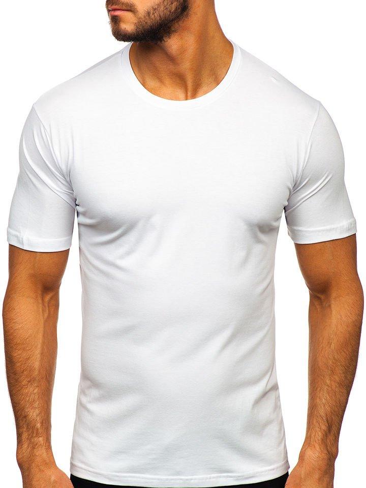 Tricou bărbați alb Bolf 192132 imagine
