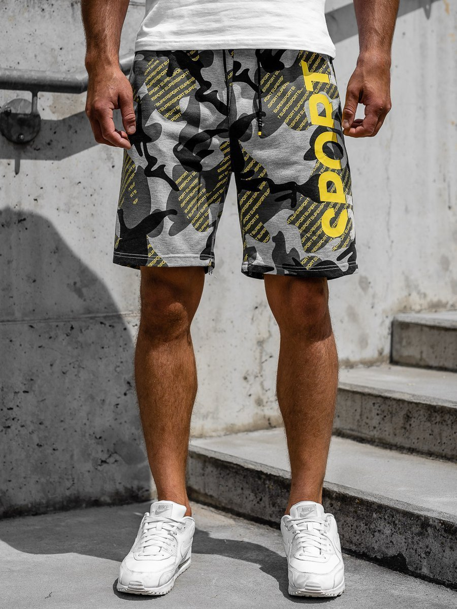 Pantaloni scurți trening bărbați gri Bolf KS2504 imagine