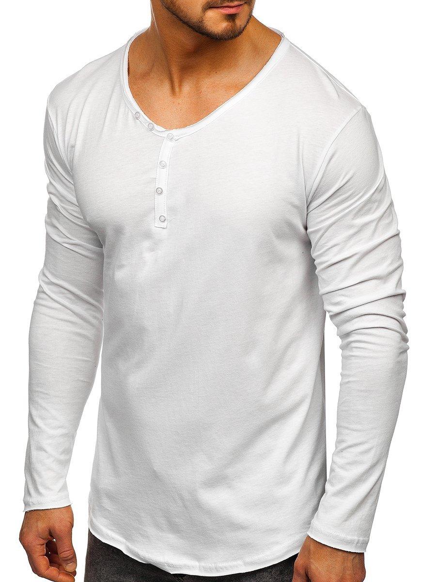 Bluză albă bărbati Bolf 5059 imagine