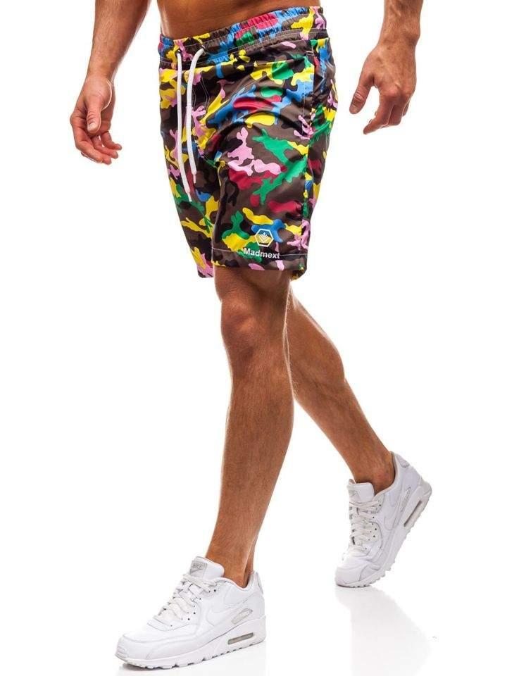 Pantaloni scurți de baie pentru bărbat multicolorați Bolf K1950B