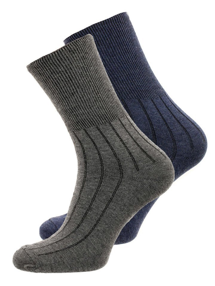 Șosete pentru bărbați bleumarin-gri Bolf X10014-2P 2 PACK