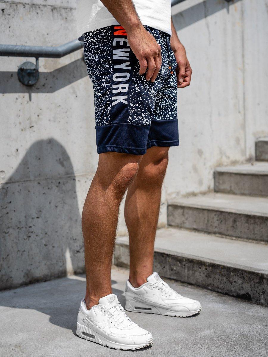 Pantaloni scurți de trening bleumarin Bolf KS2508 imagine