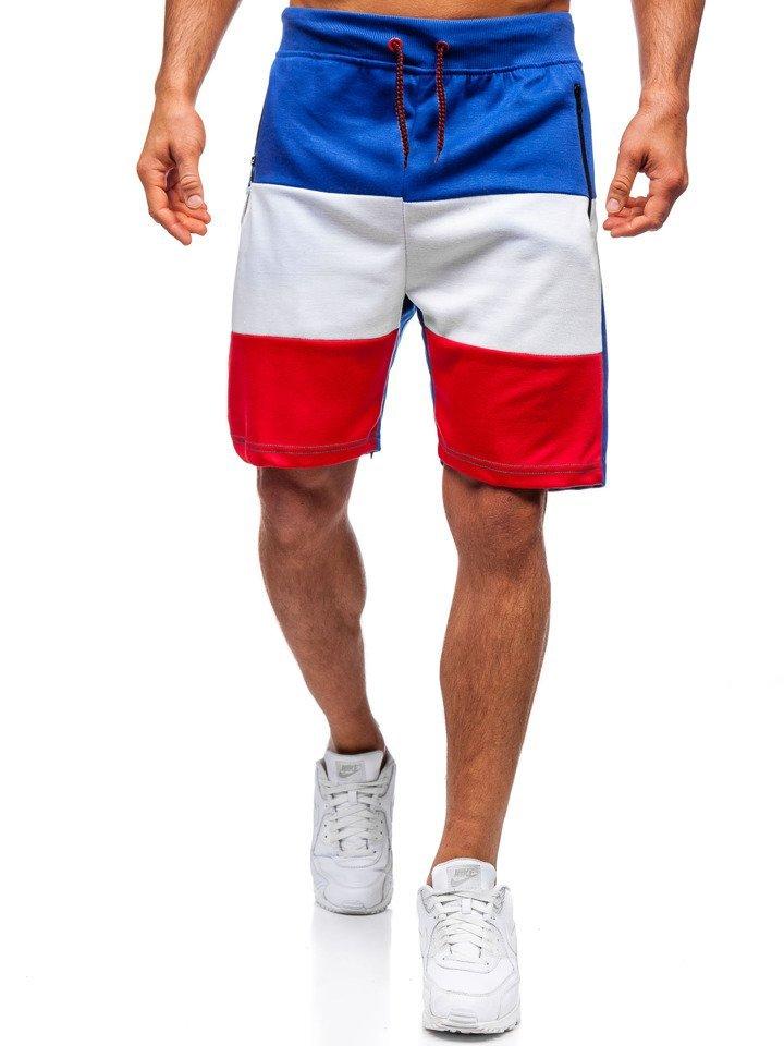 Pantaloni scurți de trening bărbați albastru Bolf 81009