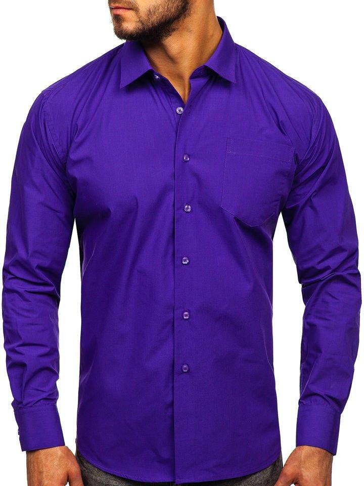 Cămașă elegantă bărbati violet Bolf 0003