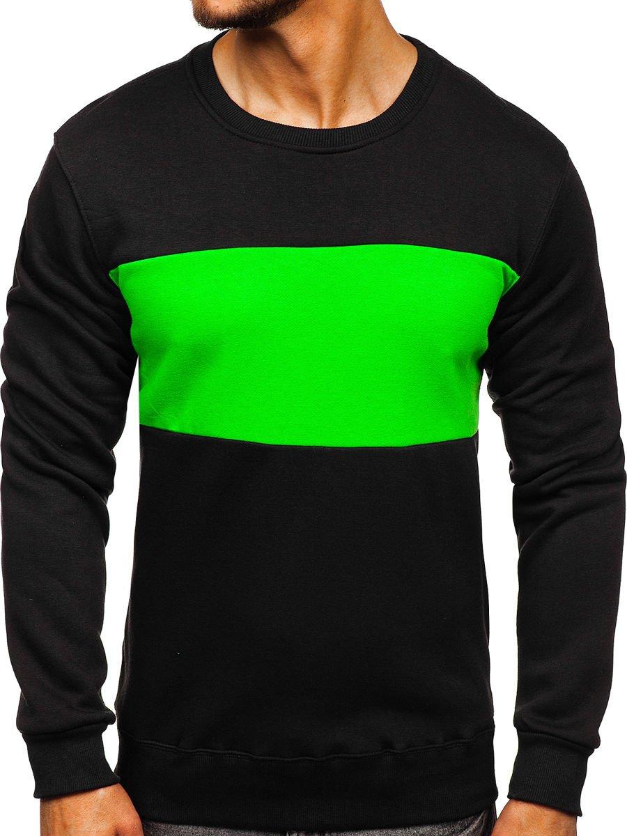 Bluză bărbați negru-verde Bolf 2010 imagine