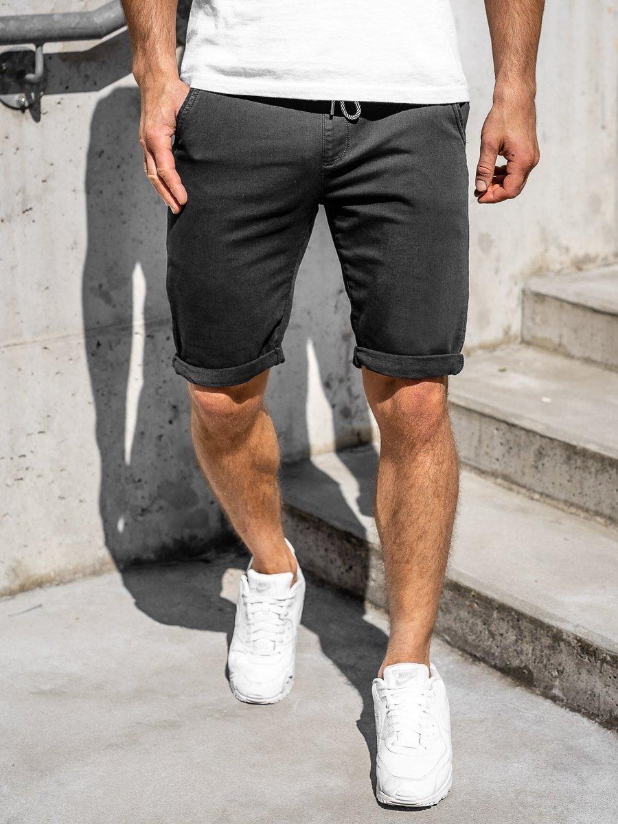 Pantaloni scurți negri bărbati Bolf KG3722 imagine