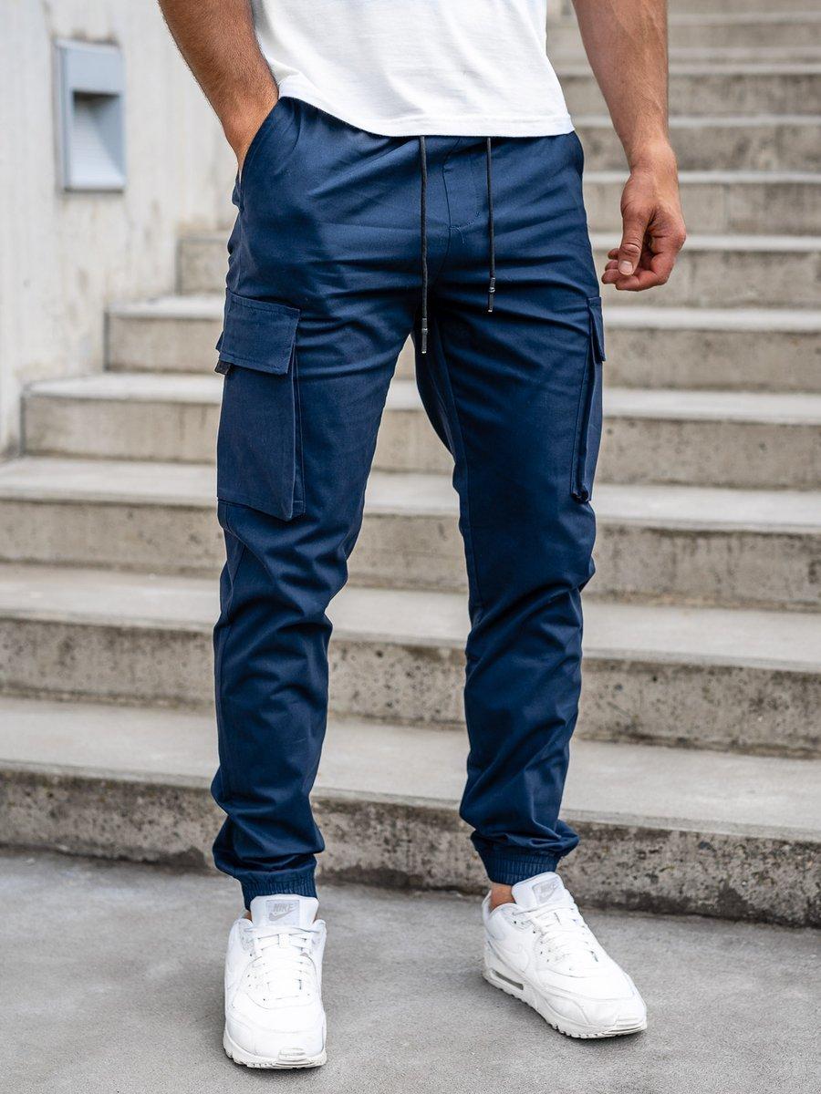 Pantaloni cargo bleumarin bărbați Bolf 701 imagine