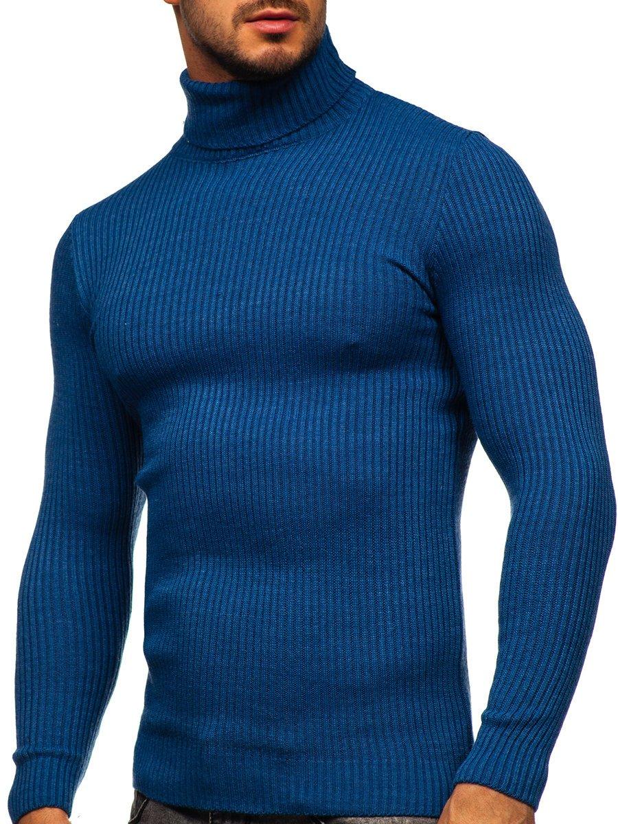 Pulover maletă albastru Bolf 4607