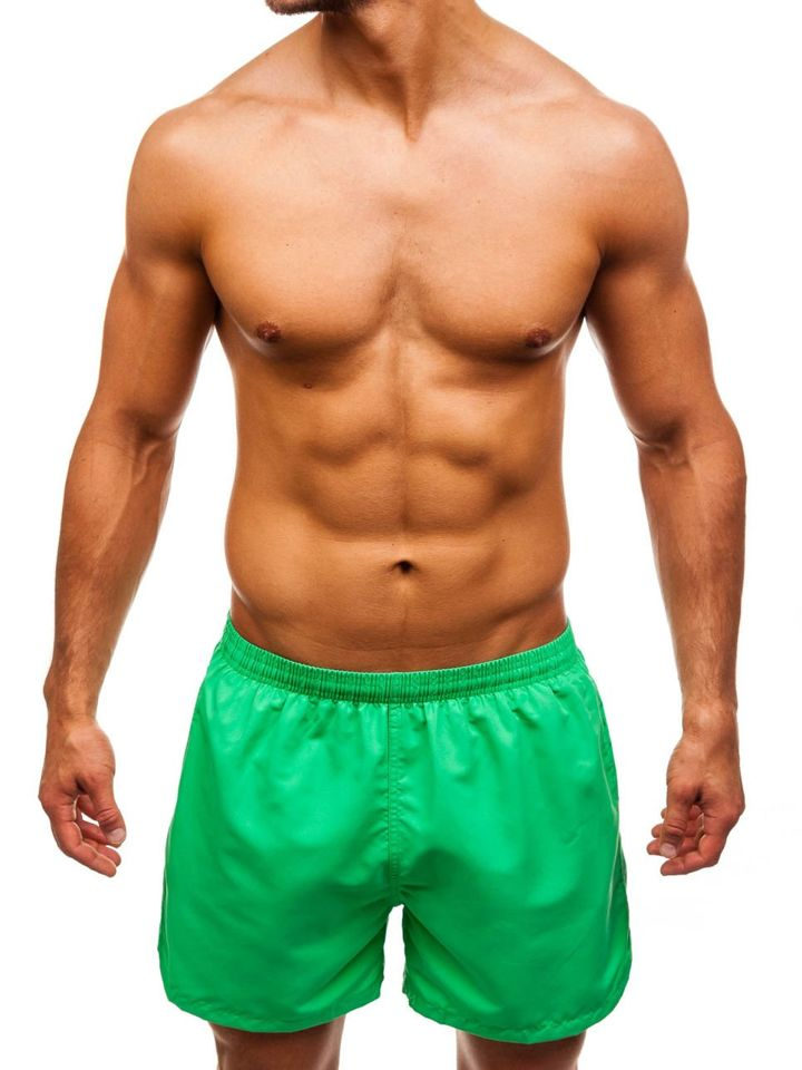 Pantaloni scurți de înot pentru bărbat verzi Bolf Y769 imagine
