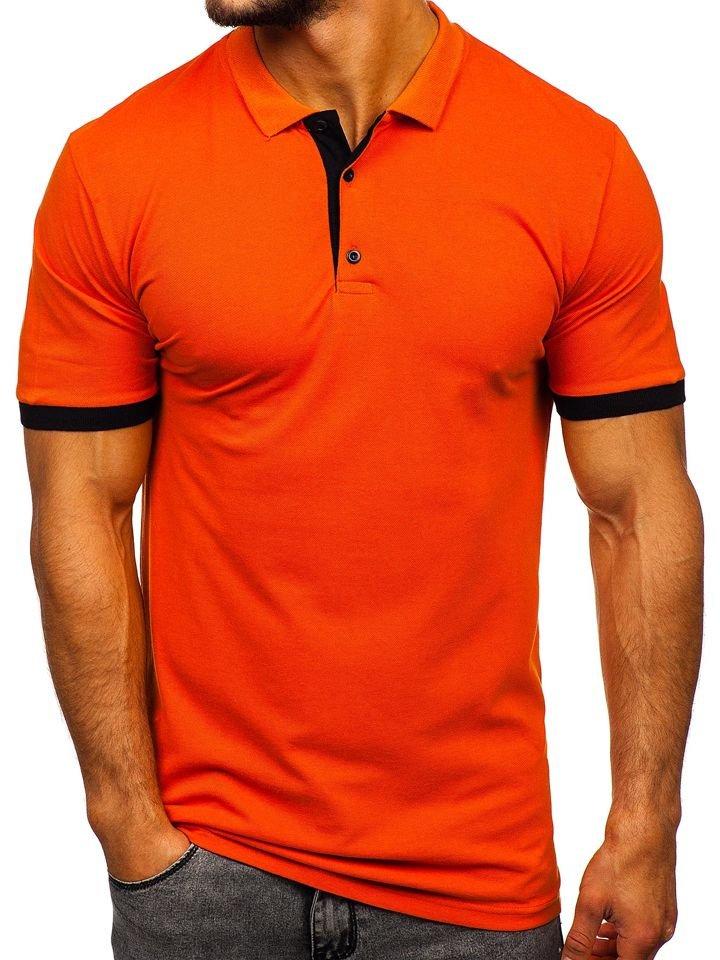 Tricou polo bărbați portocaliu Bolf 171222-1
