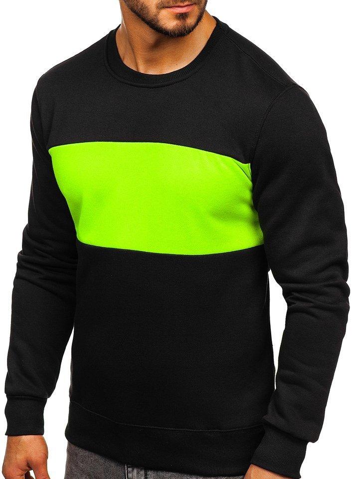 Bluză bărbați neagră-verde Bolf 2010 imagine