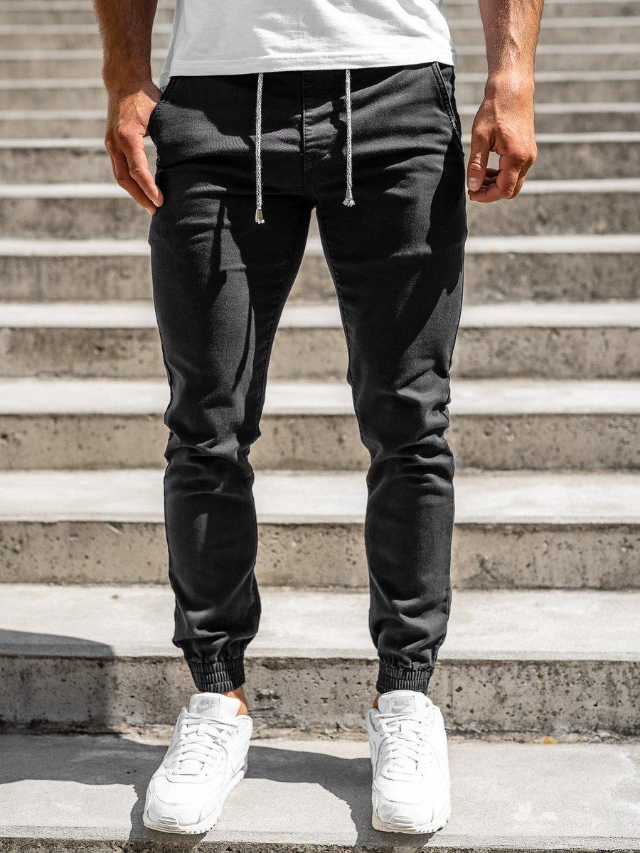 Pantaloni joggers negri bărbați Bolf CT8808