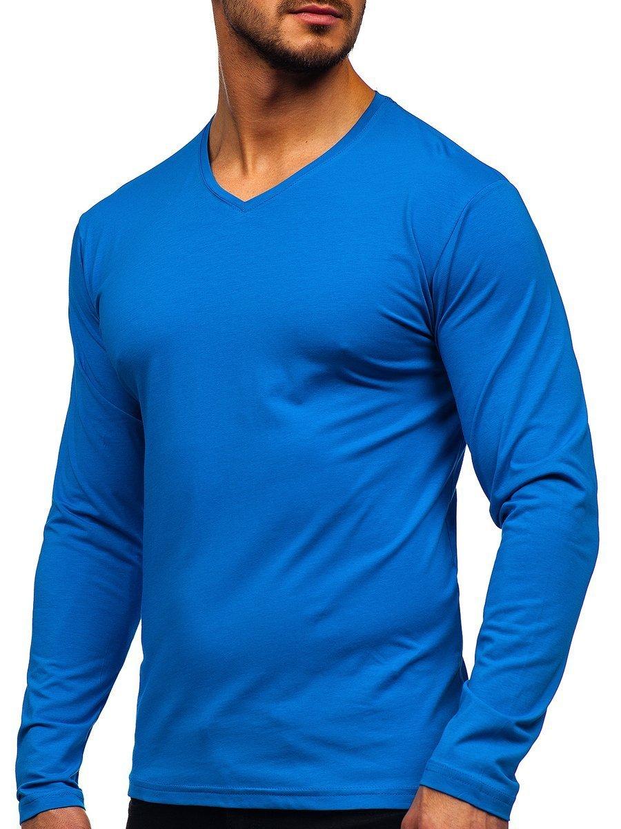 Bluză cu decolteu albastră Bolf 172008 imagine
