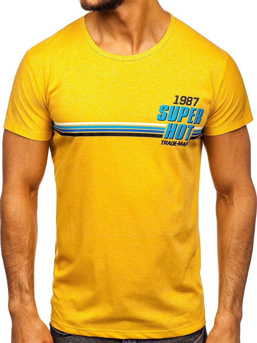 Tricou cu imprimeu galben Bolf KS2052 imagine