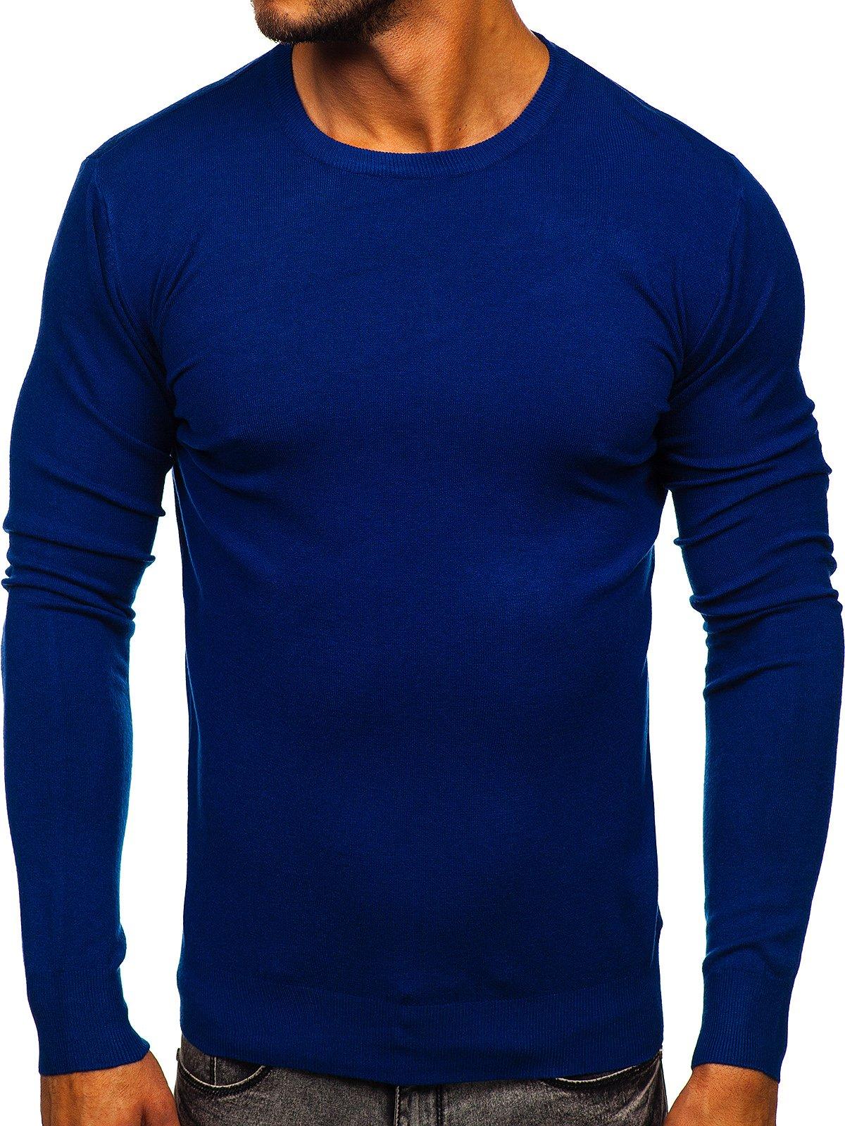 Pulover albastru bărbați Bolf YY01