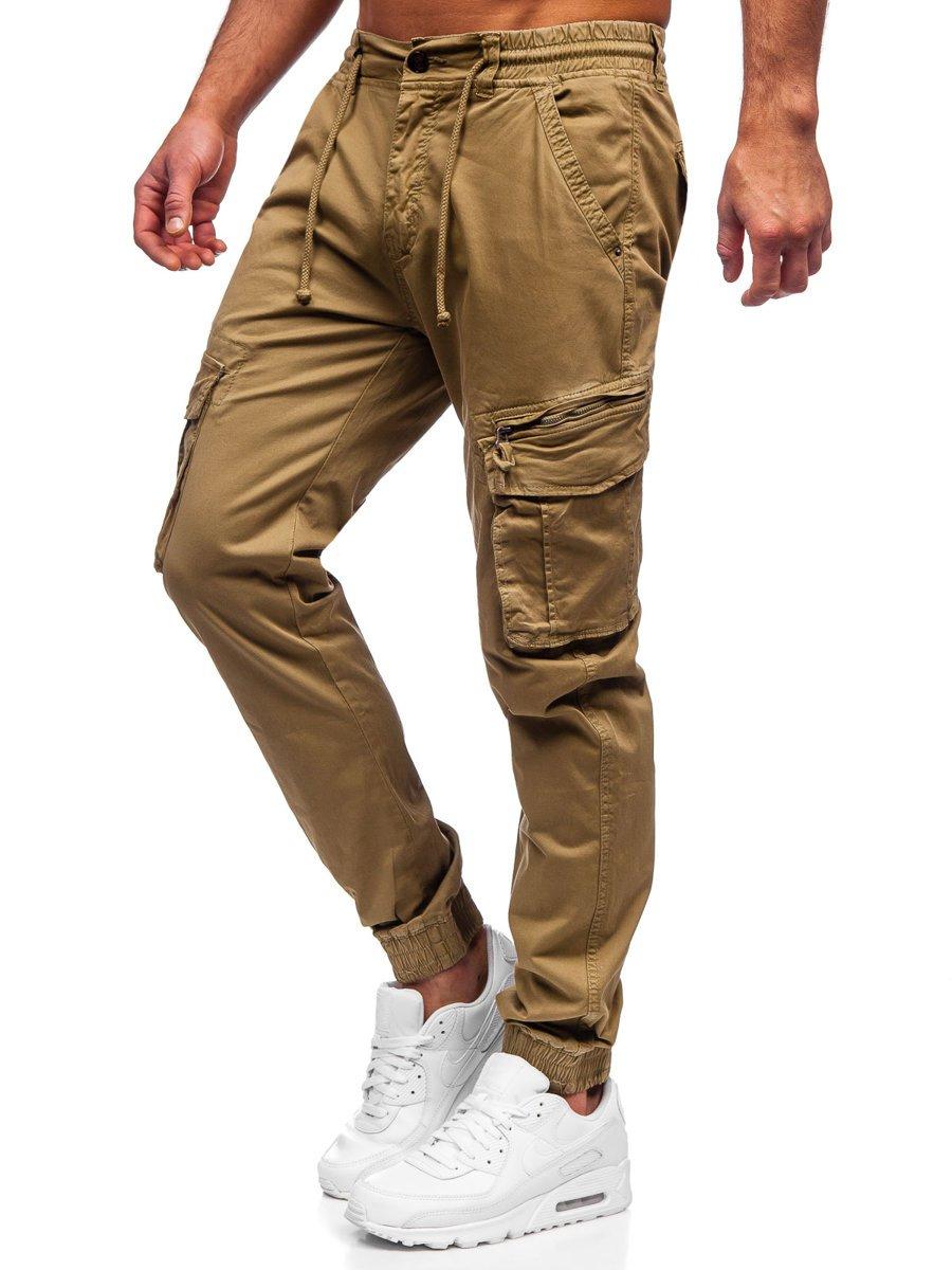 Pantaloni camel joggers cargo Bolf CT6707S0 imagine