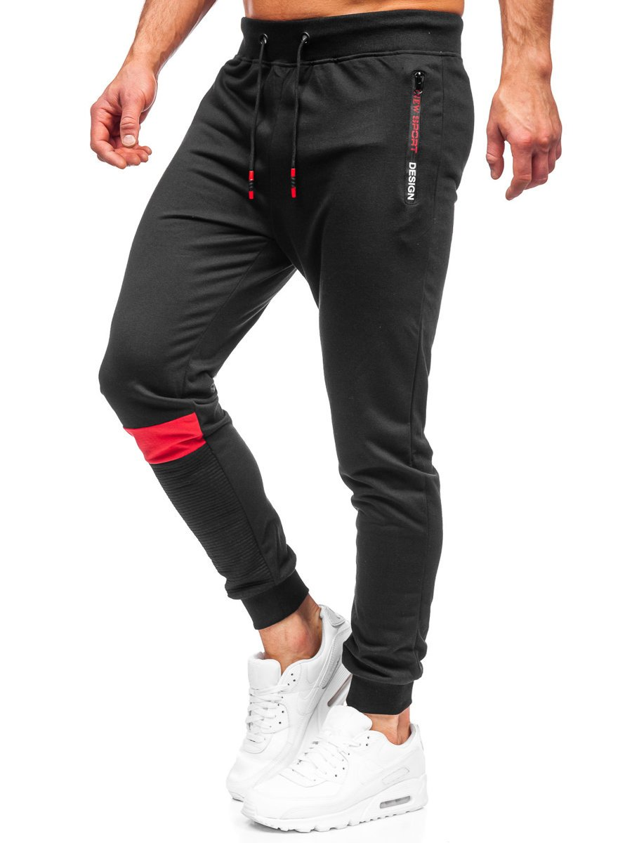 Pantaloni de trening negri Bolf K10211