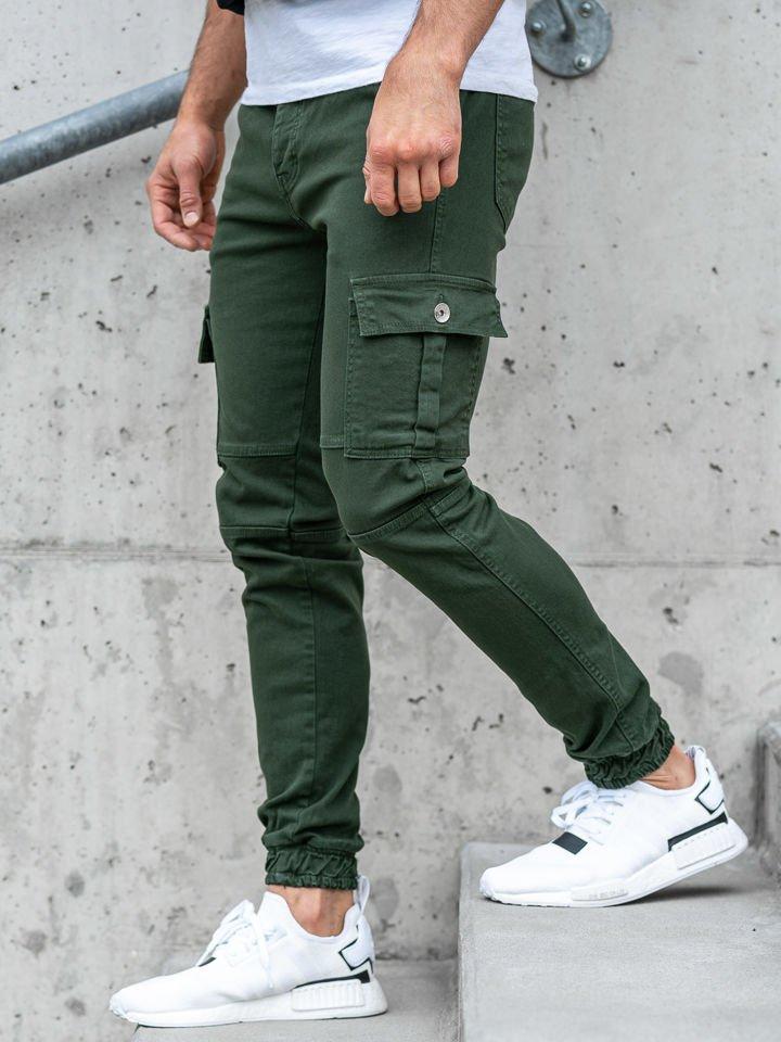 Pantaloni de trening bărbați verde Bolf 2039 imagine
