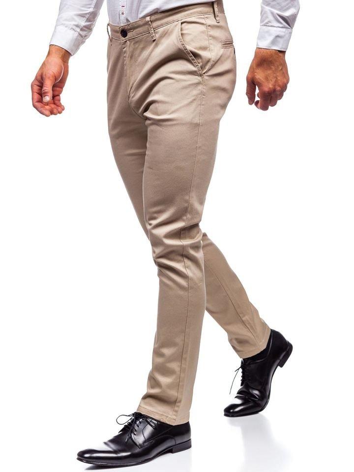 Pantaloni chino bărbați bej Bolf KA969