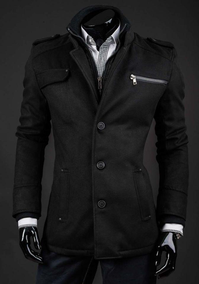 Palton de iarnă bărbați negru Bolf 8856A imagine