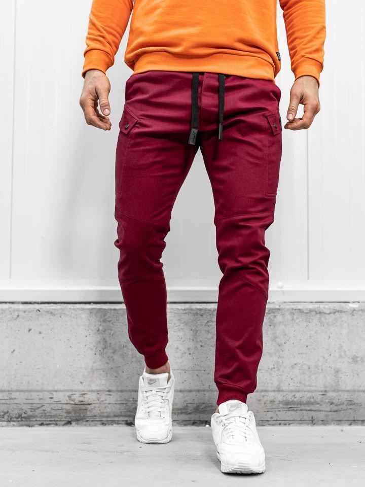 Pantaloni joggers bordo Bolf 11103