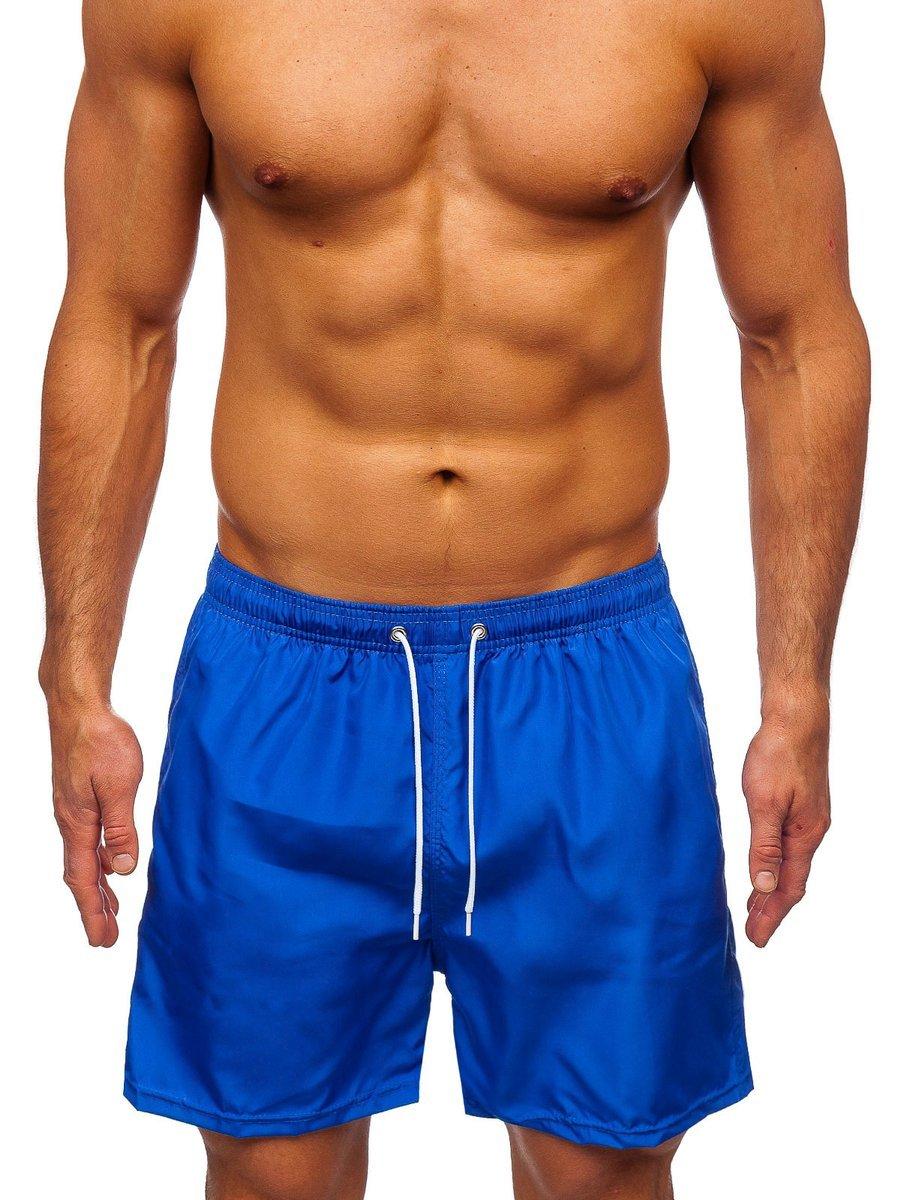 Pantaloni scurți de baie albastru Bolf ST019 imagine
