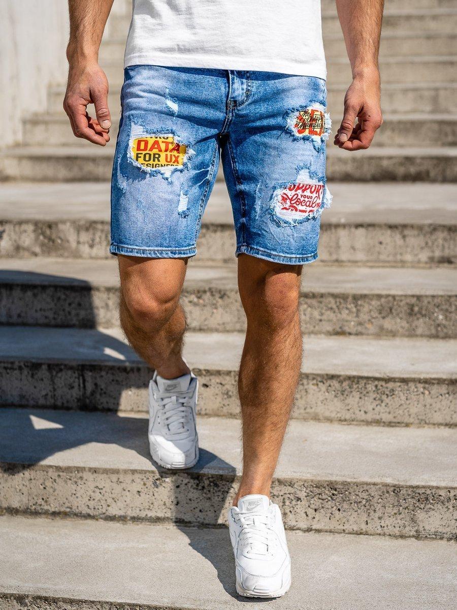 Pantaloni scurți de blugi bleumarin Bolf KG3872 imagine