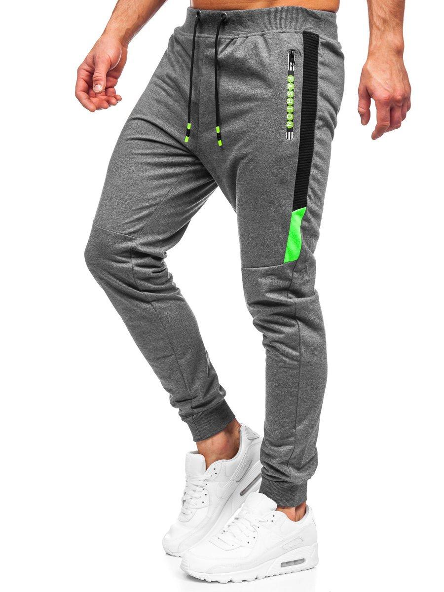 Pantaloni de trening grafit Bolf K10209