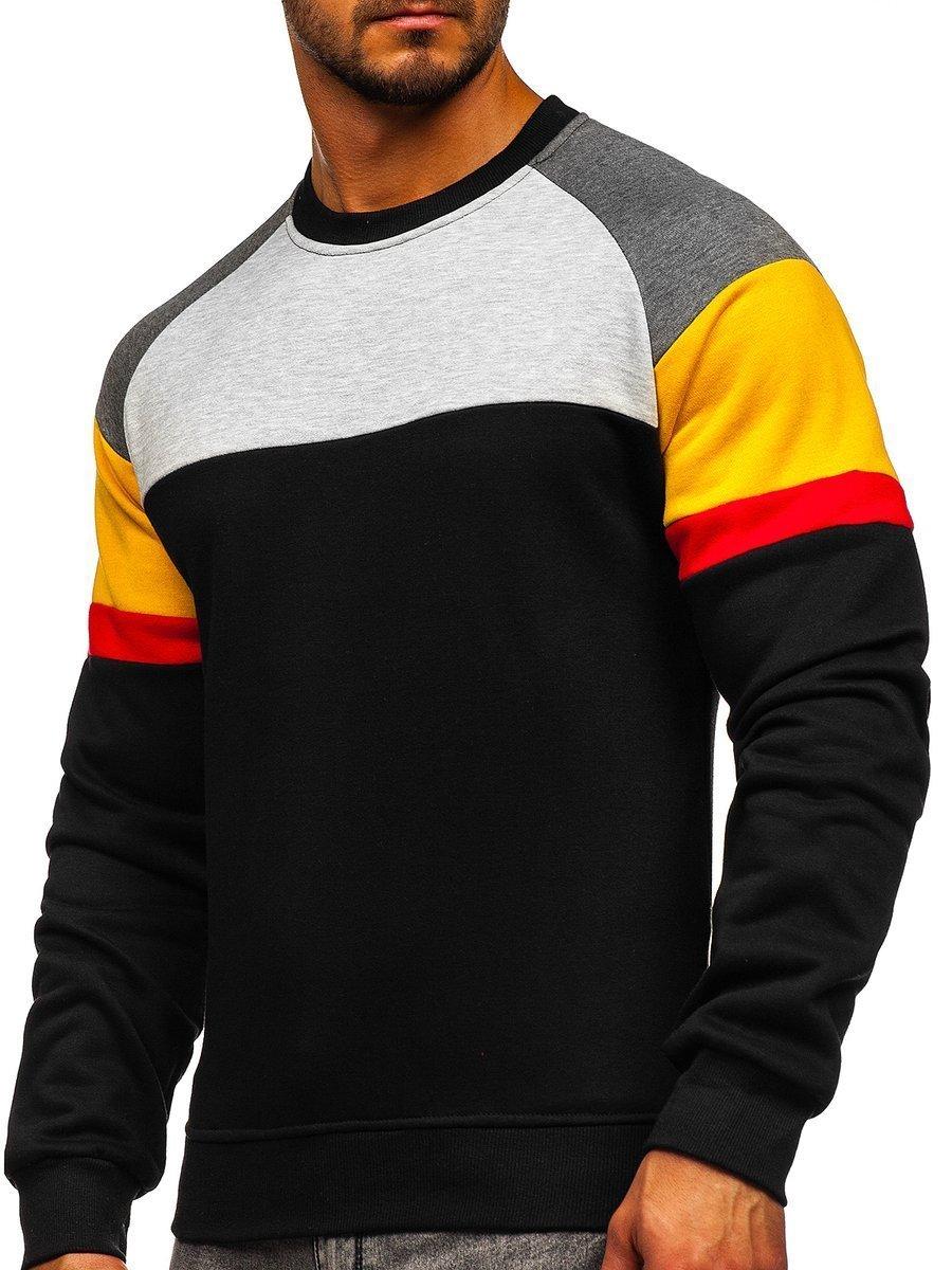 Bluză neagră bărbați Bolf KS2219