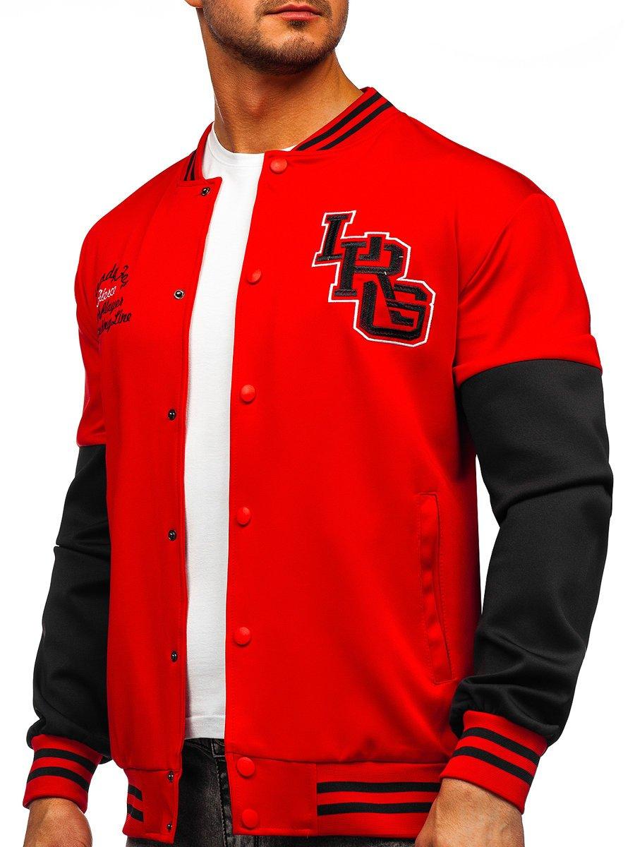 Bluză roșie baseball subțire Bolf B10158