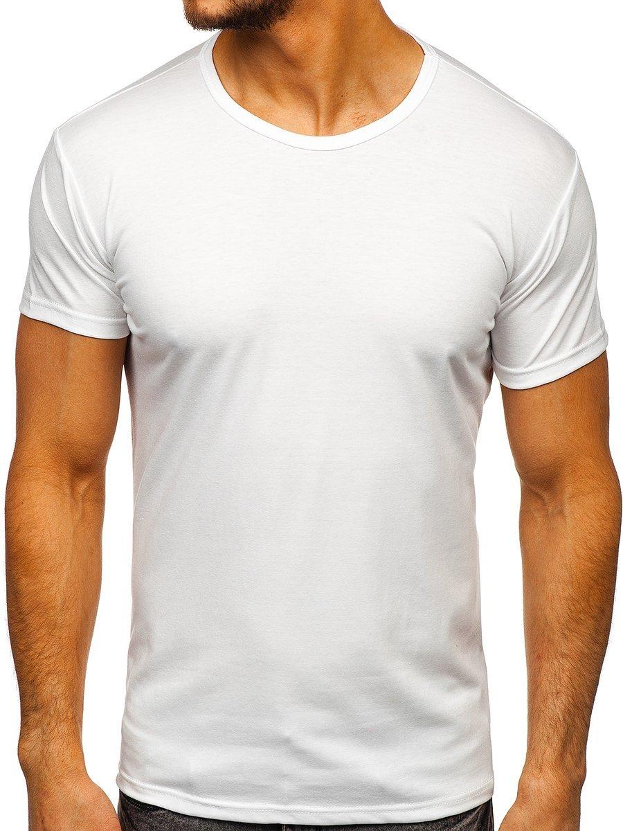 T-shirt fără imprimeu pentru bărbat alb Bolf 2006 imagine