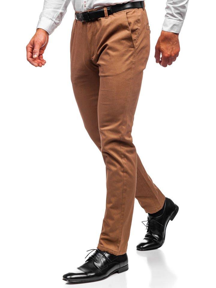 Pantaloni chino bărbați camel Bolf 1120