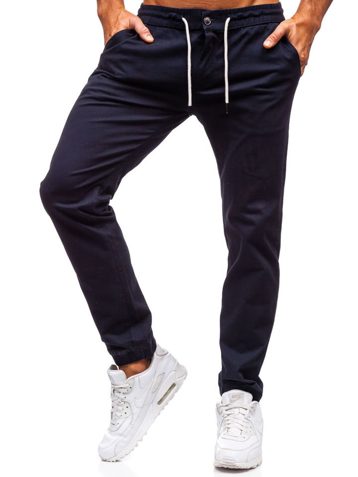 Pantaloni joggers bărbați bleumarin Bolf 1121 imagine