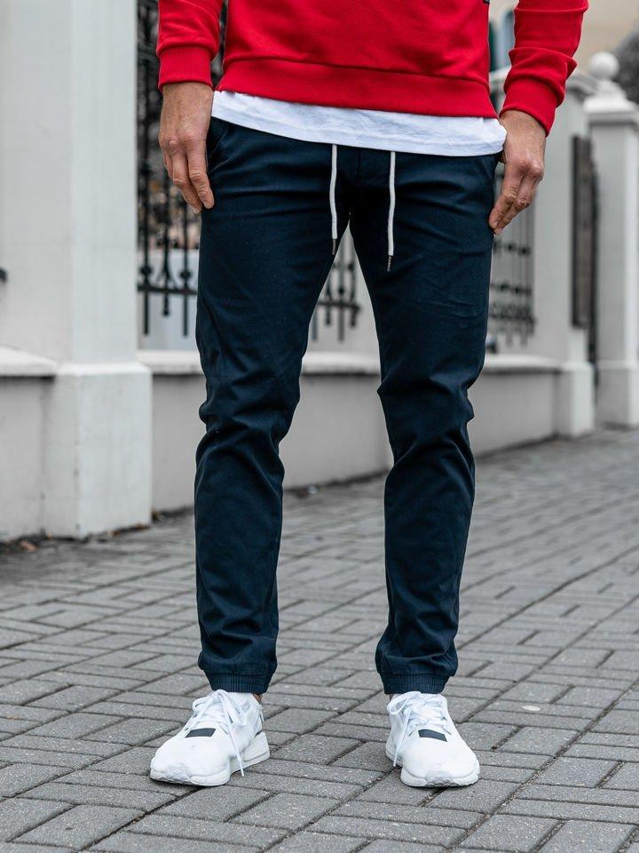 Pantaloni joggers bărbați bleumarin Bolf 1121