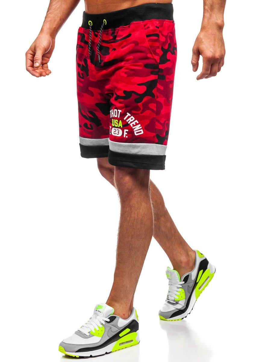 Pantaloni scurți roșii bărbați Bolf KK300152