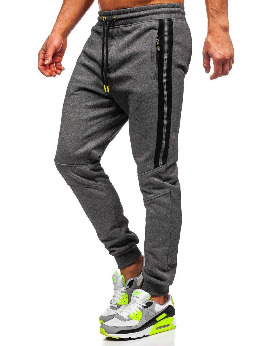 Pantaloni de trening gri Bolf TC952