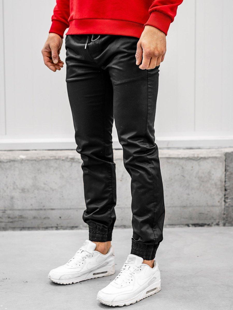 Pantaloni joggers negri Bolf KA952 imagine