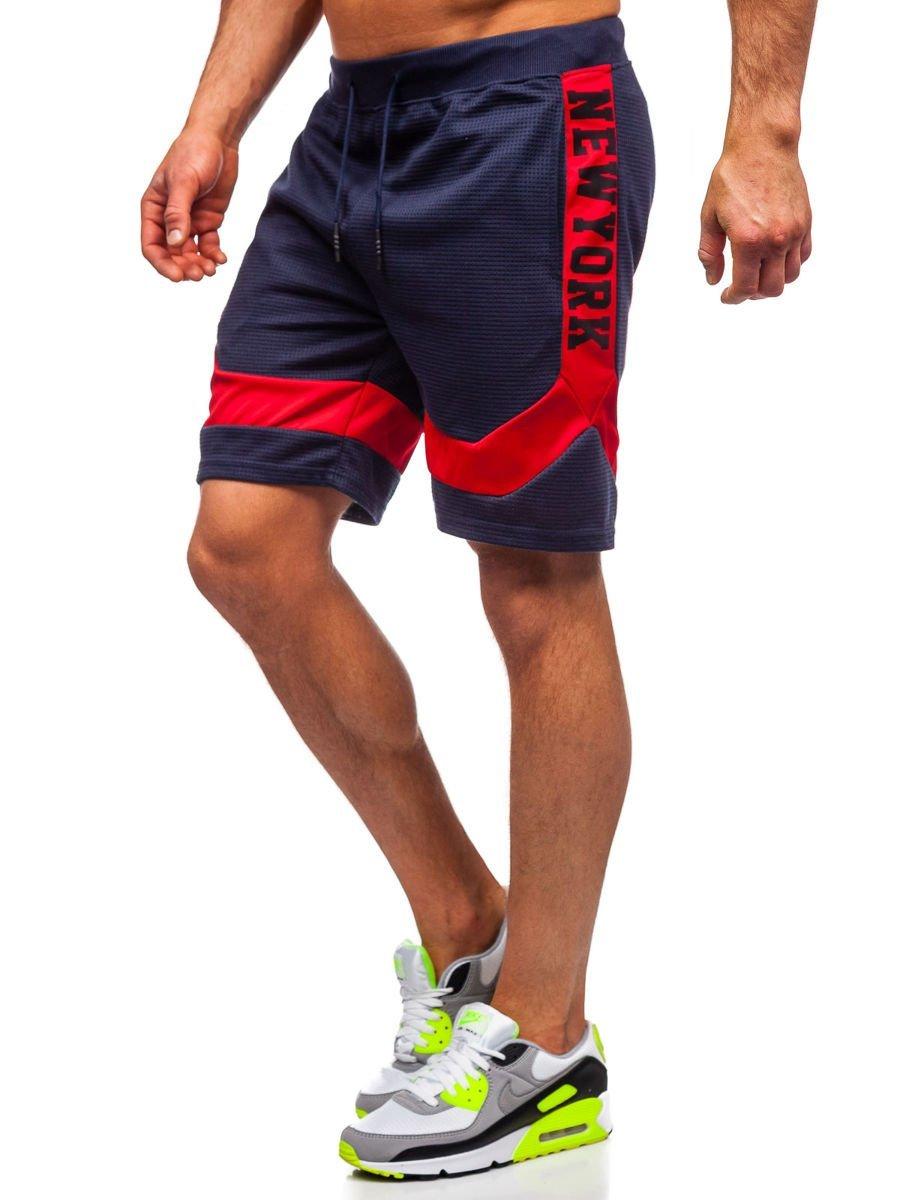Pantaloni scurți de trening bleumarin bărbați Bolf KS2523 imagine