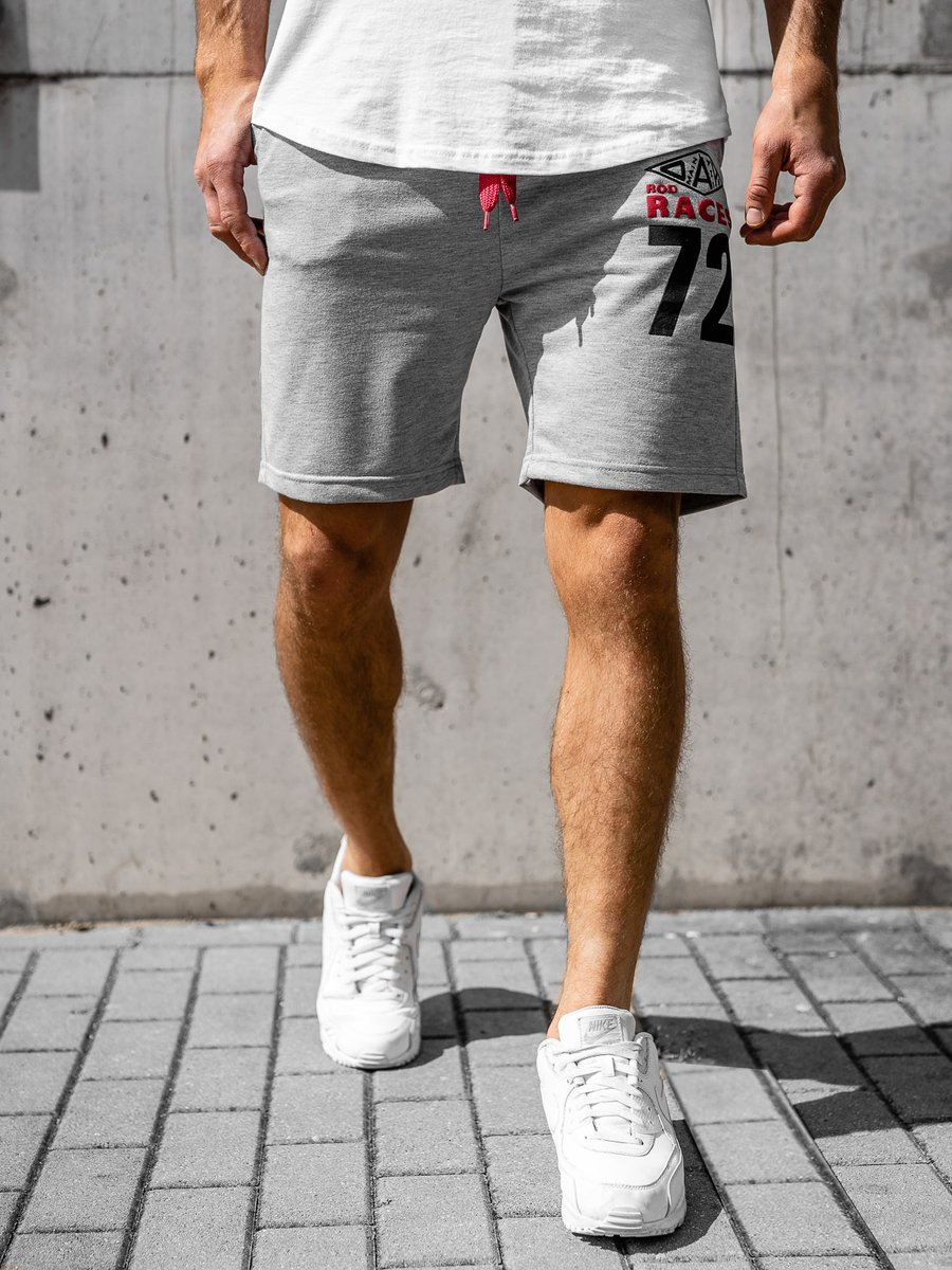 Pantaloni scurți sportivi pentru bărbat gri Bolf EX05 imagine