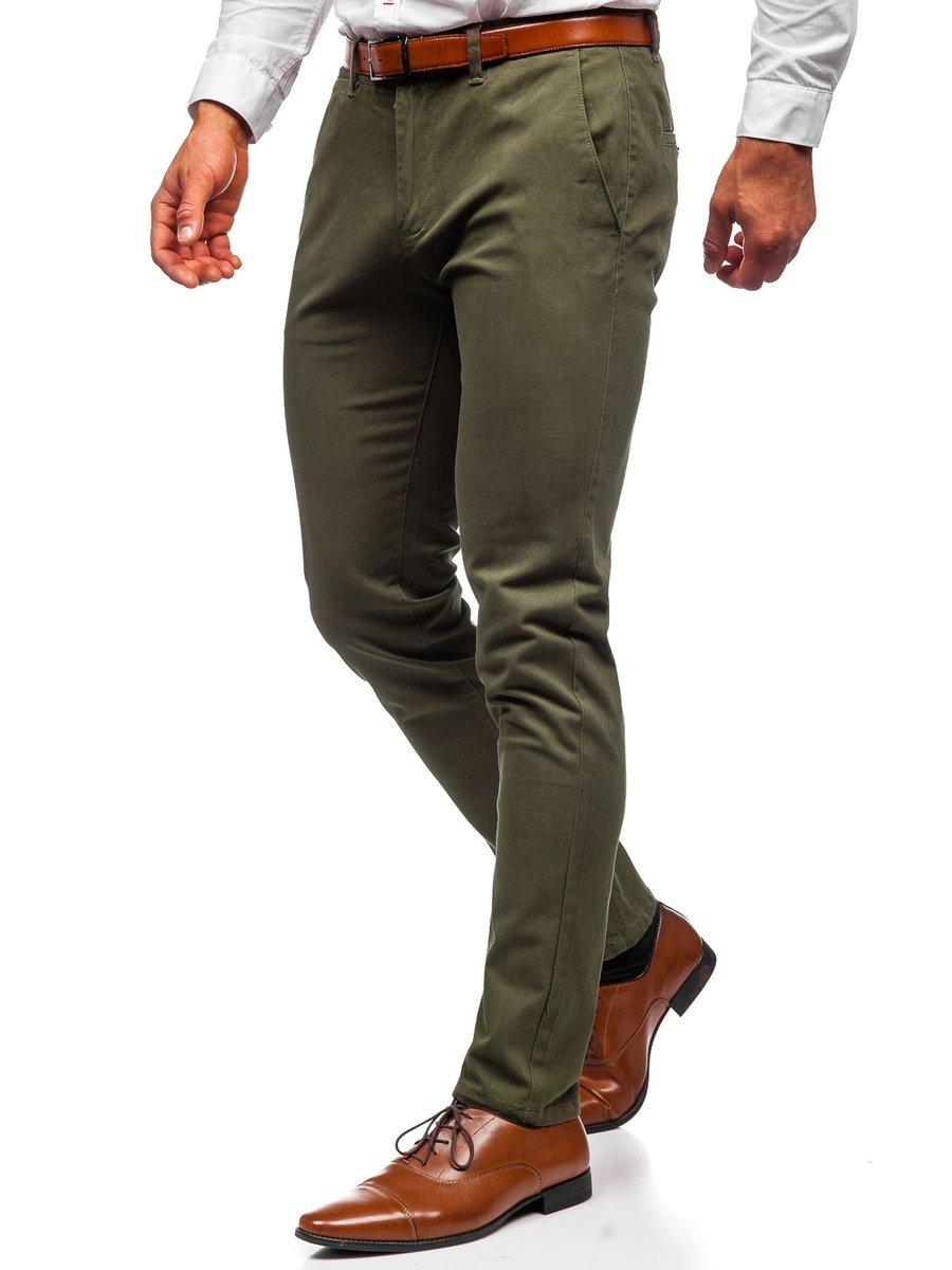 Pantaloni chinos verde bărbati Bolf 1143 imagine