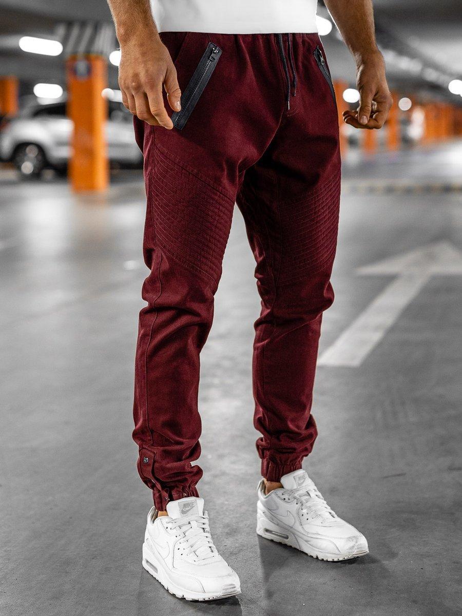 Pantaloni joggers bărbați bordo Bolf 0952
