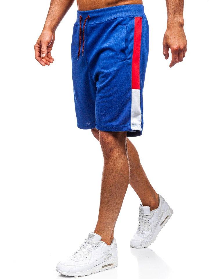 Pantaloni scurți de trening bărbați albastru Bolf 81006