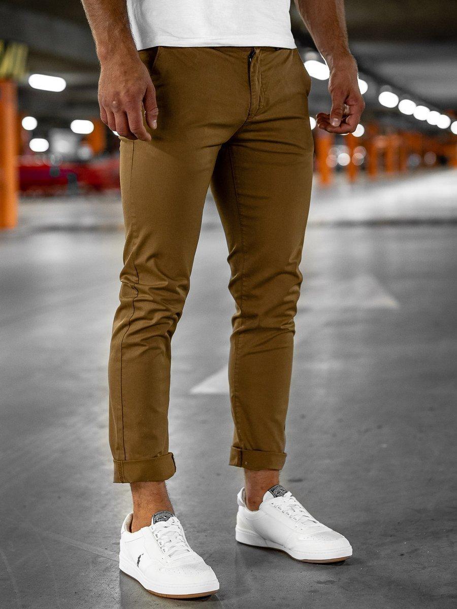 Pantaloni chinos verzi bărbati Bolf 1146 imagine